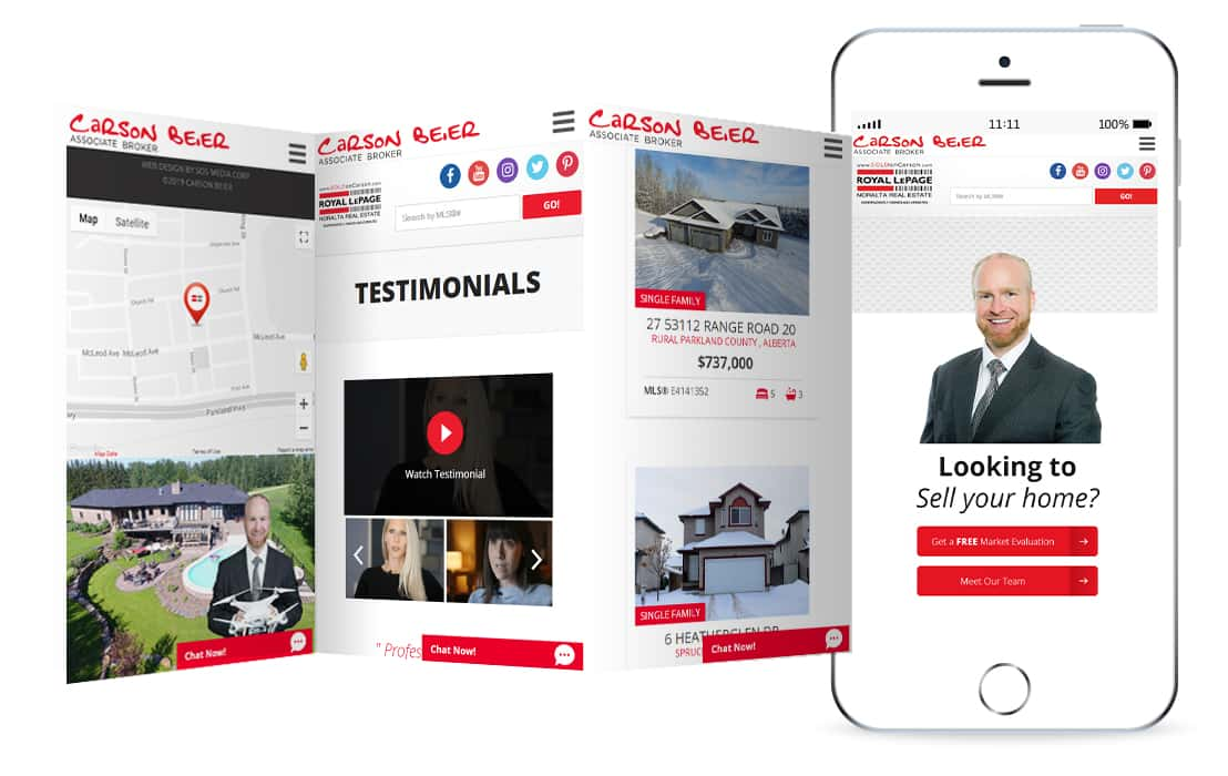 Carson Beier, ROYAL LePage website mockup