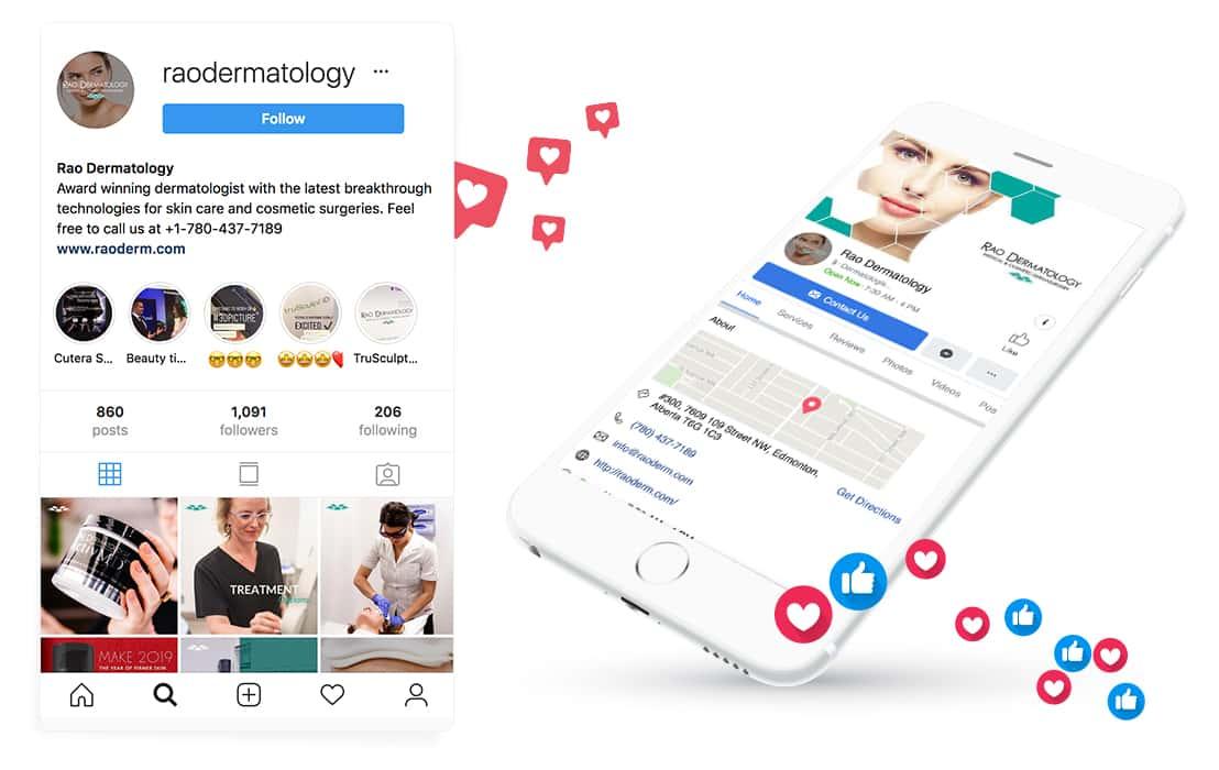 Rao Dermatology mockup