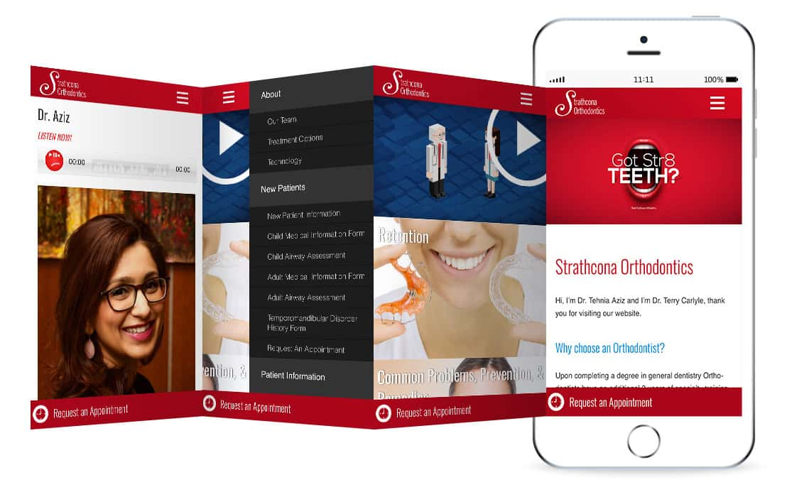 Strathcona Orthodontics website mockup