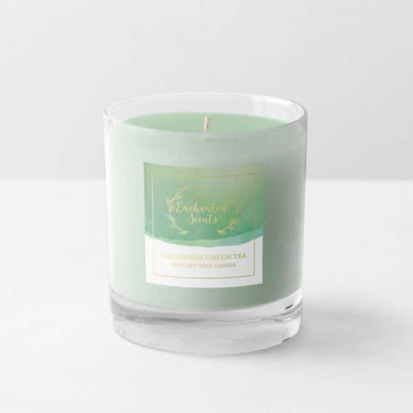 Enchanted Scents (Cucumber Green Tea Candle and Label)