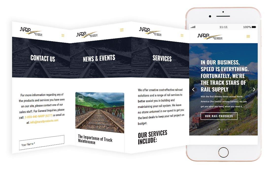 Northern Rail website mockup