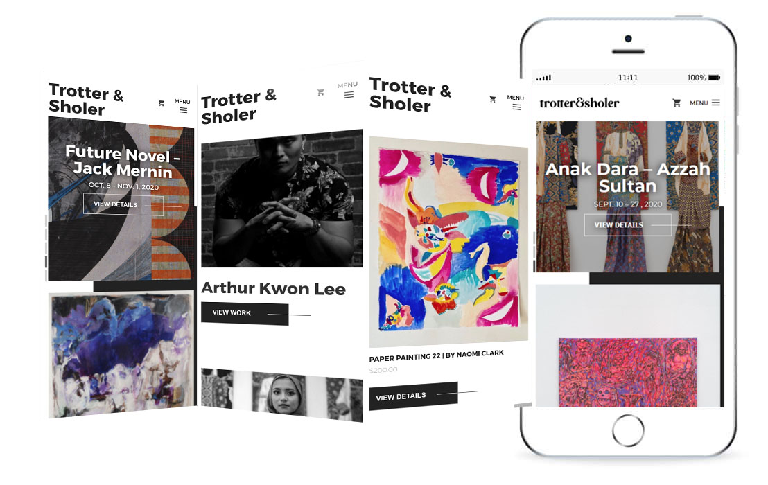 Trotter & Sholer website mockup